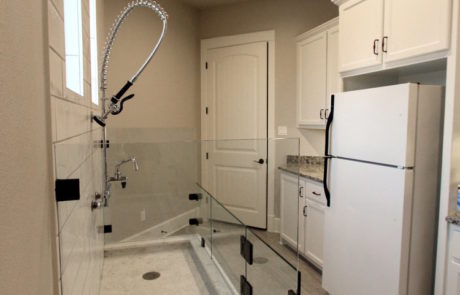 Pet shower and multipurpose room