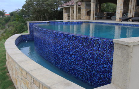 waterfall pool side view